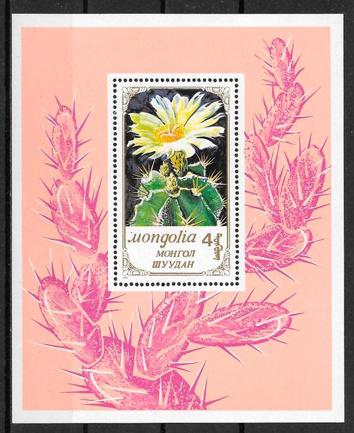 filatelia flora Mongolia 1989