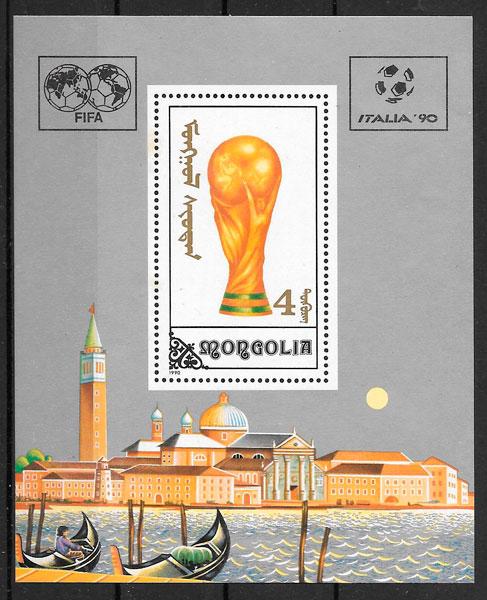 filatelia fútbol Mongolia 1990