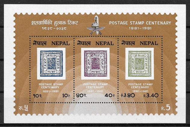 filatelia colección temas varios Nepal 1981