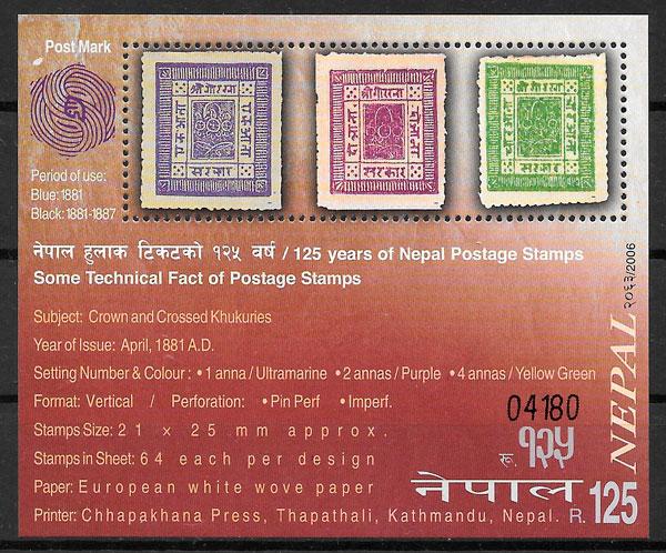 filatelia colección temas varios Nepal 2006
