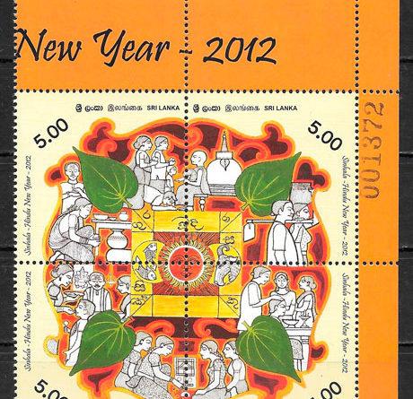 sellos temas varios Sri Lanka 2012