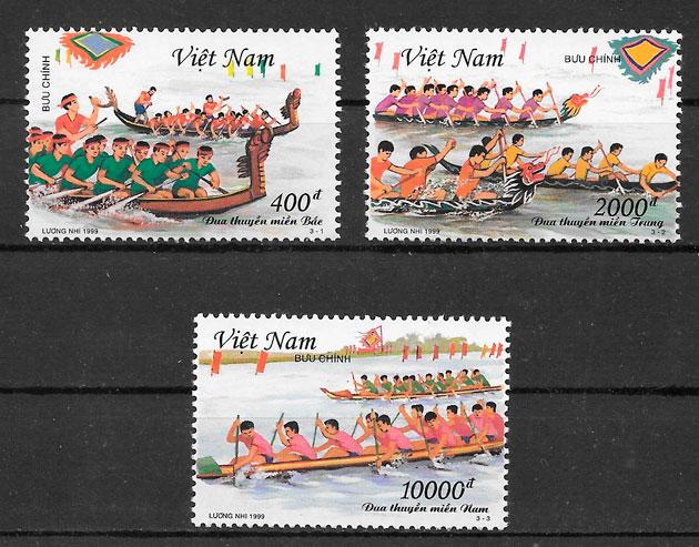 filatelia colección deporte Viet nam 1999