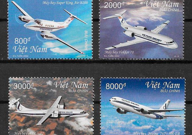 filatelia colección transporte Viet Nam 2002