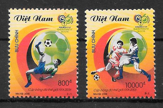 filatelia futbol Viet Nam 2006