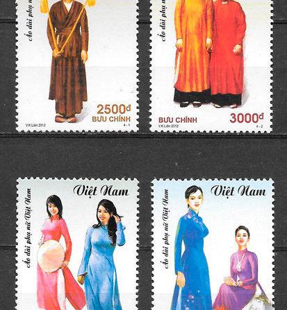 filatelia arte Viet Nam 2012