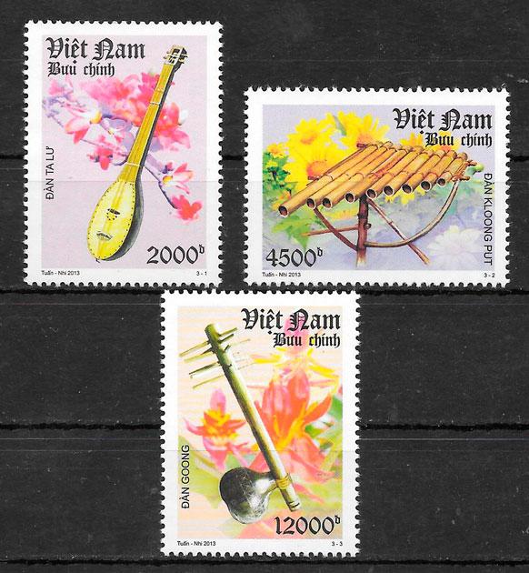 colección sellos arte Viet Nam 2013