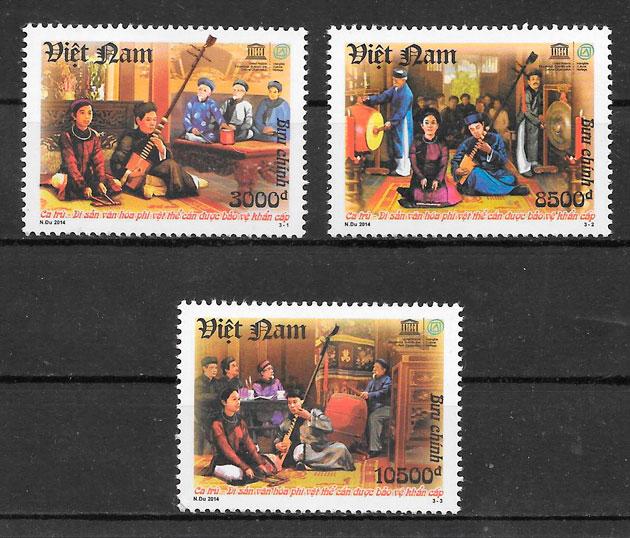sellos arte Viet Nam 2014