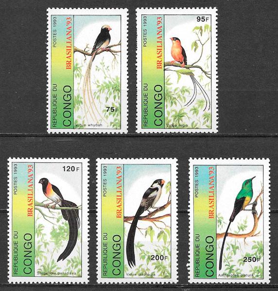 sellos fauna Congo 1993
