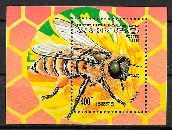 sellos fauna Congo 1994