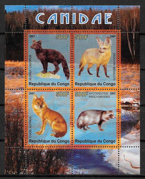 sellos fauna Congo 2007