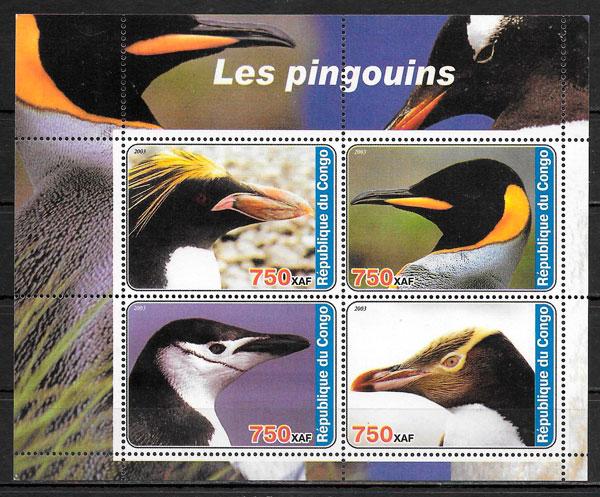 sellos fauna Congo 2003