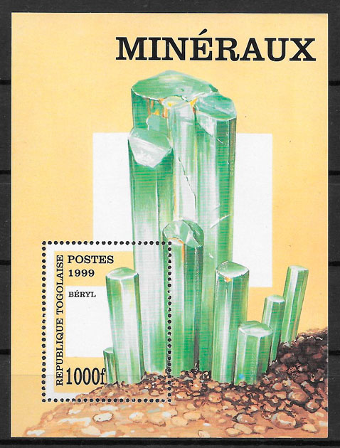 colección sellos minerales Togo 1999