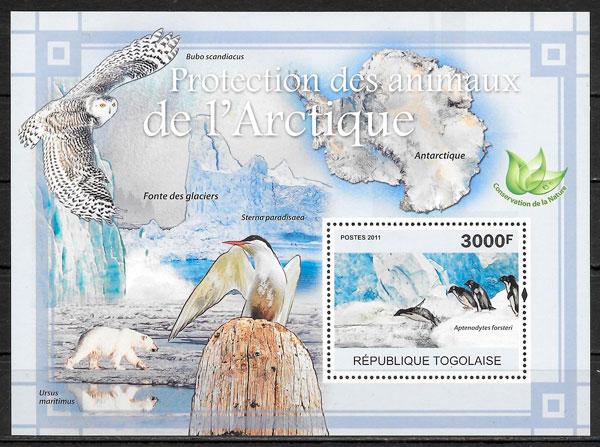 colección sellos fauna Togo 2011