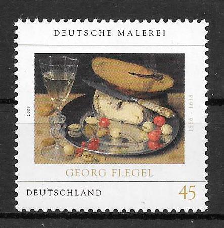 colección sellos pintura Alemania 2009