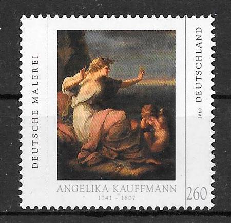 filatelia colección pintura Alemania 2010