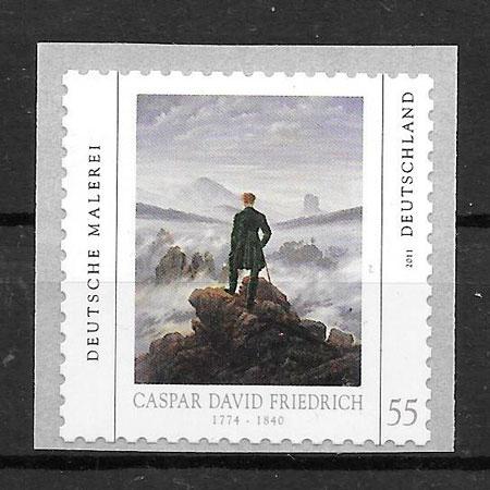 colección sellos pintura Alemania 2011