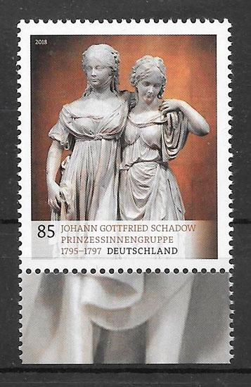 colección sellos pintura Alemania 2018
