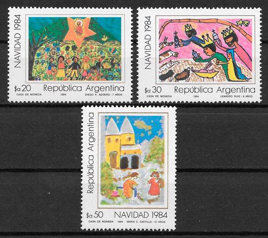 sellos temas varios Argentina 1984
