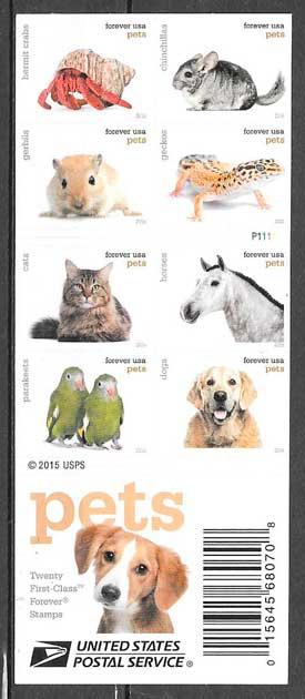 filatelia colección fauna USA 2016