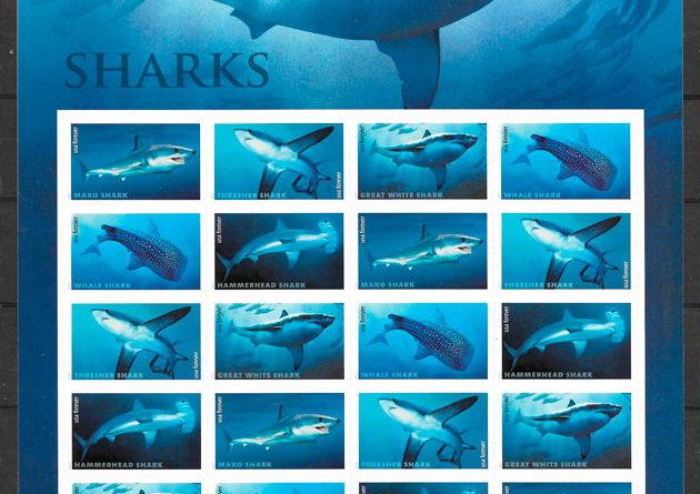 colección sellos fauna USA 2017