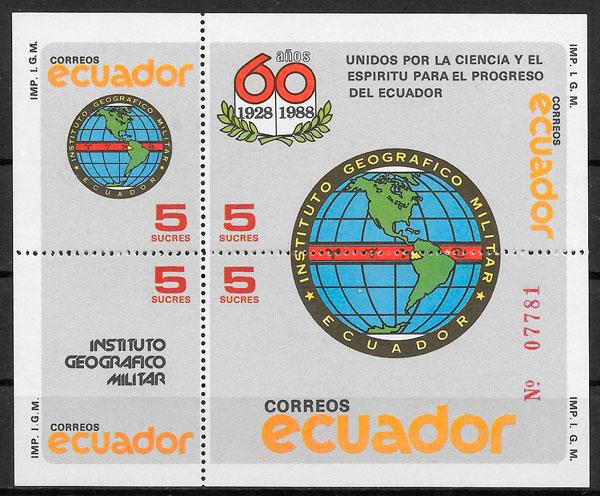 colección sellos temas varios Ecuador 1988