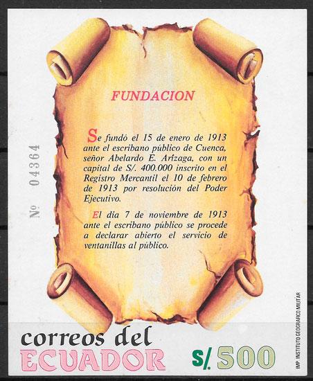 colección sellos temas varios Ecuador 1989