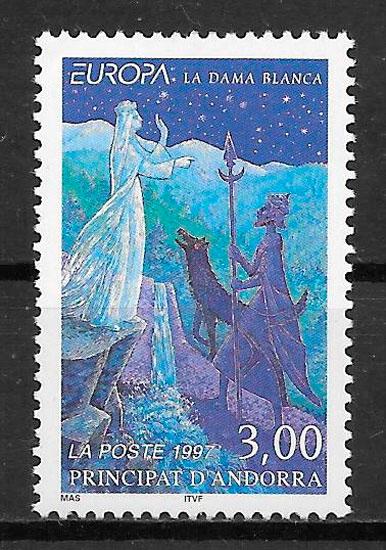sellos Europa Andorra Francesa 1997