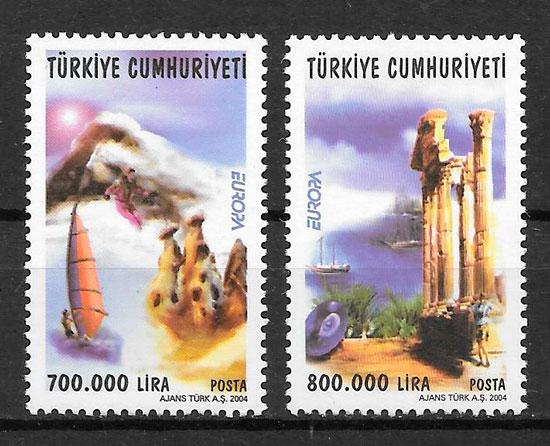 sellos Europa Turquía 2004