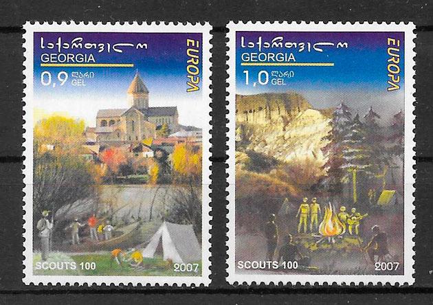 colección sellos Europa 2008 Georgia