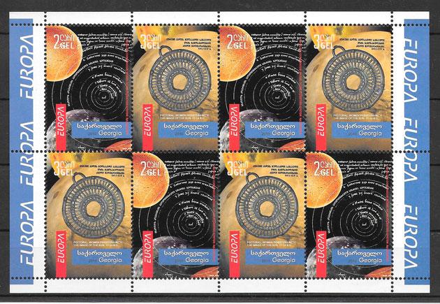 colección sellos Europa 2010 Georgia