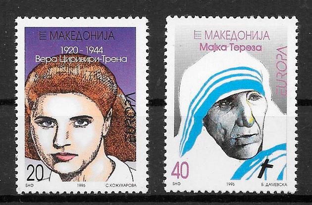 sellos Europa Macedonia 1996
