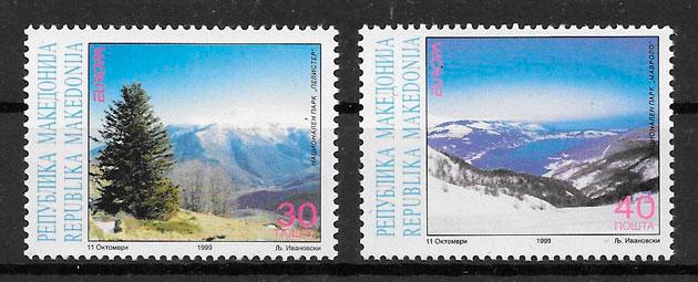 sellos Europa Macedonia 1999