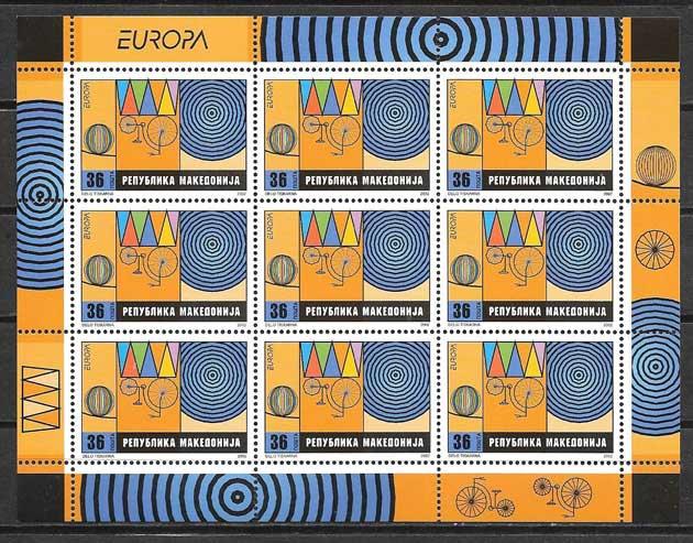 colección sellos Europa Macedonia 2001