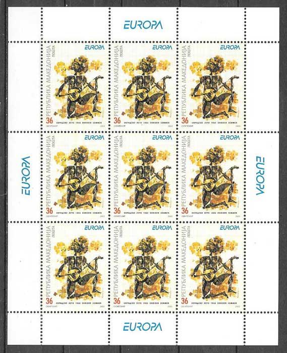 colección sellos Europa Macedonia 2003