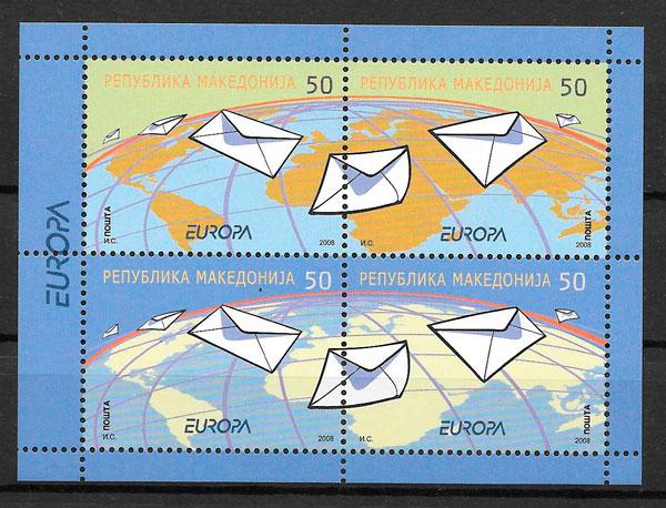 colección sellos Europa Macedonia 2008