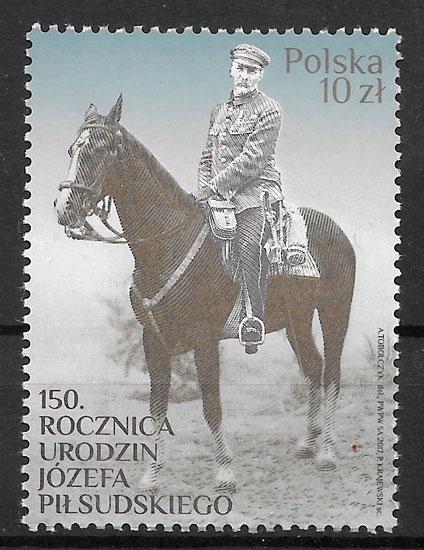 coleccion sellos personalidades Polonia 2017