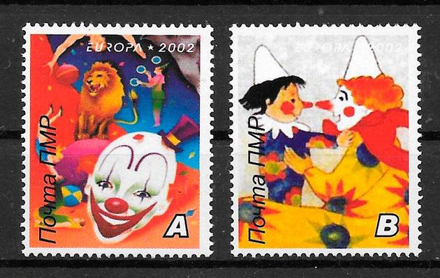 sellos Europa Regiones Rusas 2002