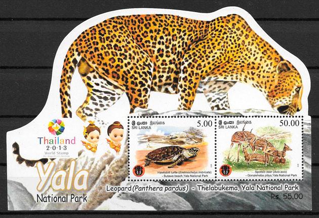 filatelia parques naturales Sri Lanka 2013