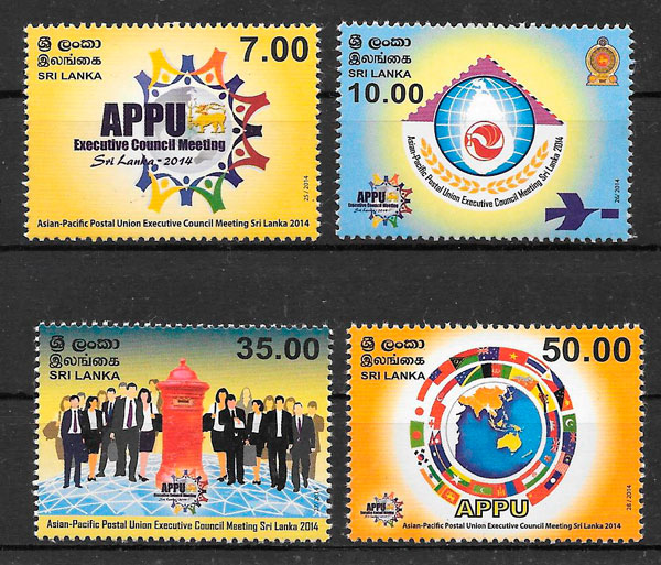sellos temas varios Sri Lanka 2014