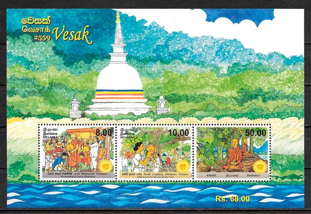 filatelia colección temas varios Sri Lanka 2015