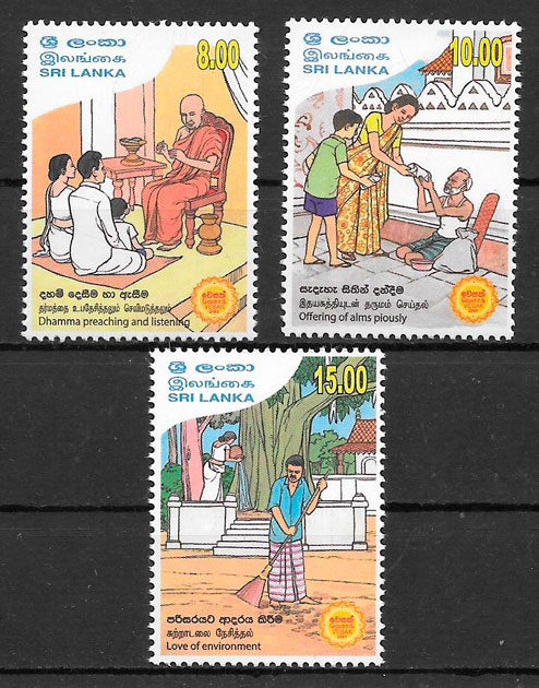 sellos temas varios Sri Lanka 2017