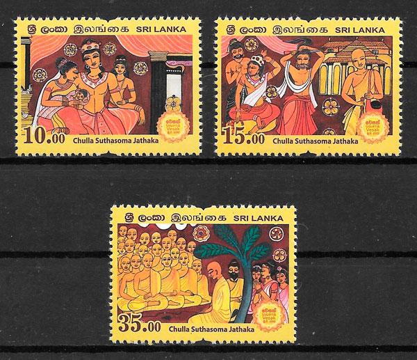 filatelia colección temas varios Sri Lanka 2018