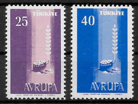 sellos Europa Turquia 1958