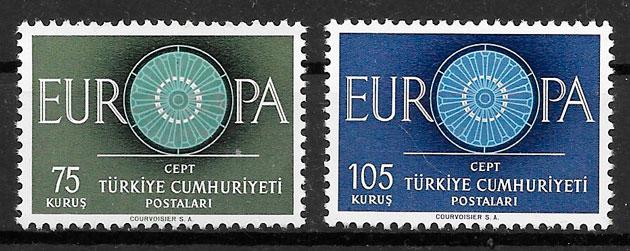 sellos Europa Turquia 1960