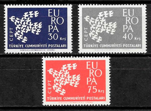sellos Europa Turquia 1961