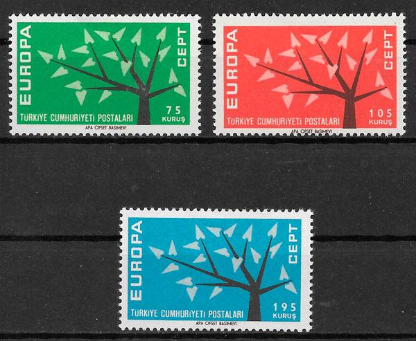 sellos Europa Turquia 1962