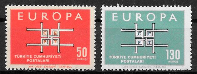 sellos Europa Turquia 1963