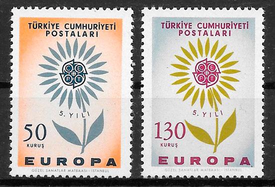 filatelia Europa Turquia 1964
