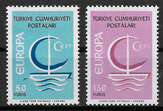 filatelia coleccion Europa 1966 Turquia