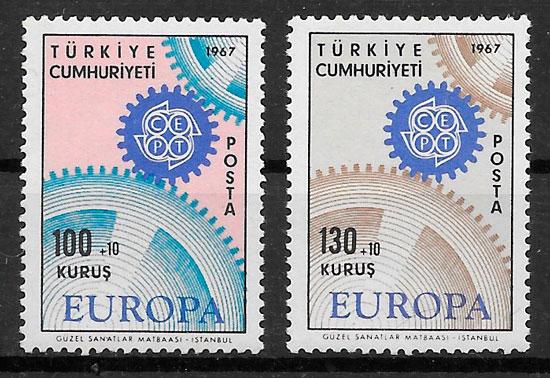 filatelia coleccion Europa 1967 Turquia